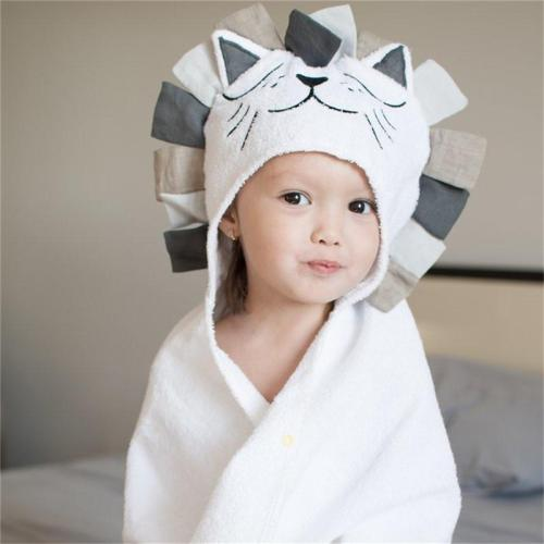 100% Cotton Kids Towel Hood Cotton Bathrobe Baby Towel