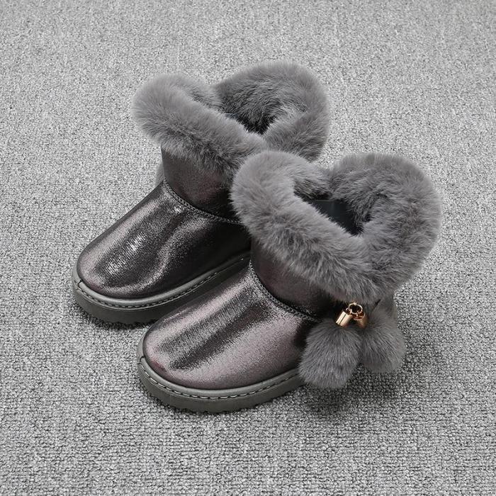 Children Girl Snow Boots Waterproof  Kids Cotton Thicken Boot
