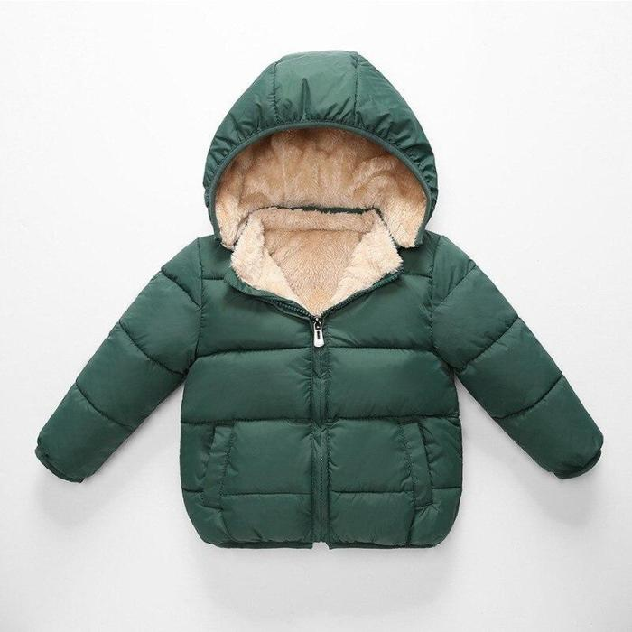 Children's Parkas Winter Jacket For Boys Kids WarmThick Hooded Coats Outerwear