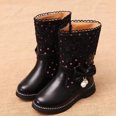 Fashion Girls Snow Boots Children's General Leather Shoes for Girls