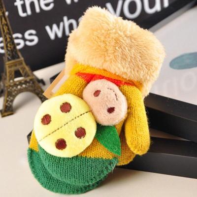 Kids Knitted Gloves Winter Children Warm Rope Mittens Cotton Wool Mittens