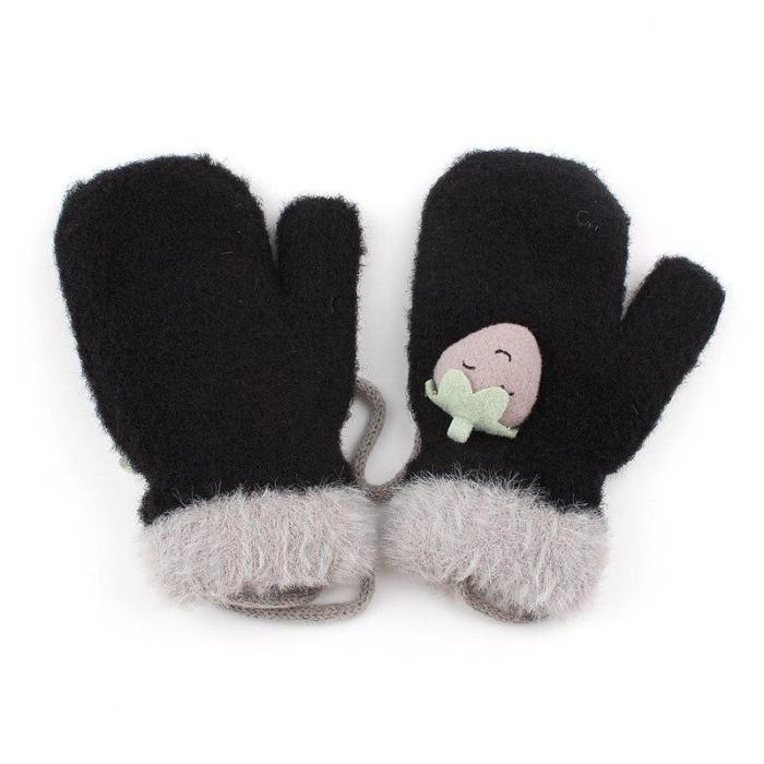 Winter Baby Knitted Gloves Warm Rope Full Finger Mittens Gloves
