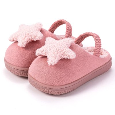 Girls Rear Heel Movable Cute Star Cartoon Kid Home Slippers