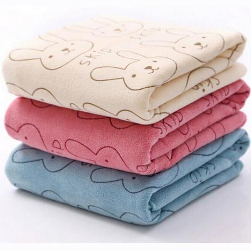 Rabbit Soft Microfiber Baby Infant Bath Towel Newborn Absorbent Drying Washcloth