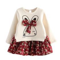 Costume Kids Cartoon Rabbit Bunny Floral Girls Print Princess Party Dress