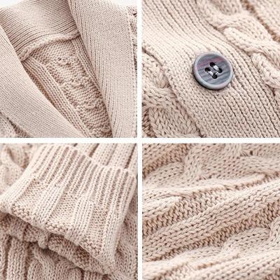 Boys Cardigan Children Coat Casual Baby School Kids Sweater Outerwear