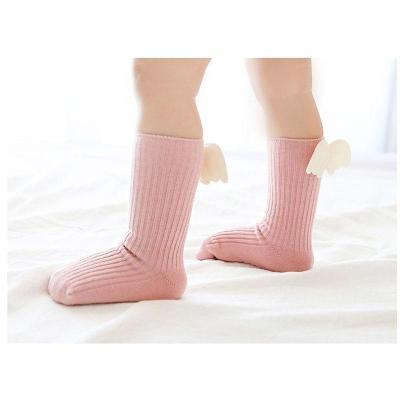 Baby Girls Knee High Socks Angelwing Cotton Solid Socks