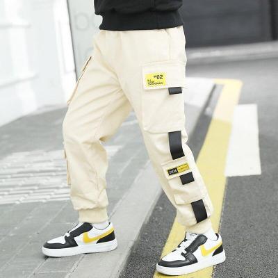 Hip Hop Boys Pants Cargo Harem Pants Multi-pockets Joggers Boys Sweatpants