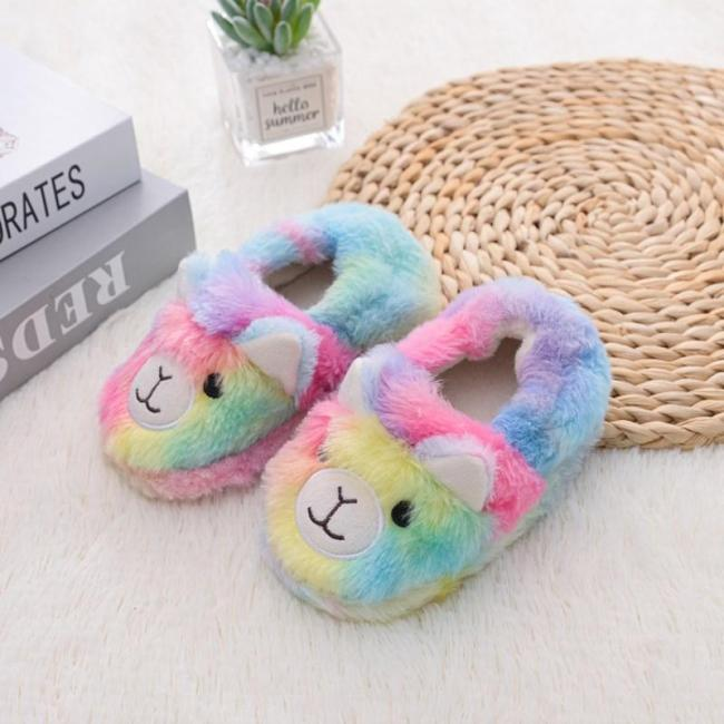Winter Cute Slippers Kids Toddler Girl Baby Slides Cotton Indoor Shoes