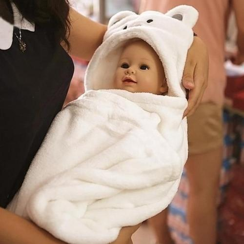 Hood Bath Towel for Kids Baby Bathrobe Cute Animal Towel