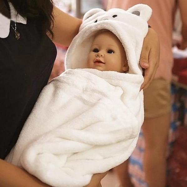 Hood Bath Towel for Kids Baby Bathrobe Cute Animal Towel