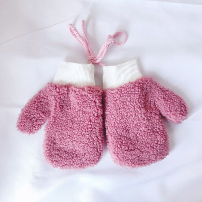 Toddler Baby Thicken Rope Full Finger Warm Knitted Mittens Gloves