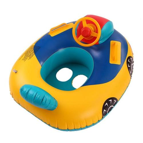 Cartoon Cars Seat PVC Swimming Ring Baby Toddler Inflatable Pool Float