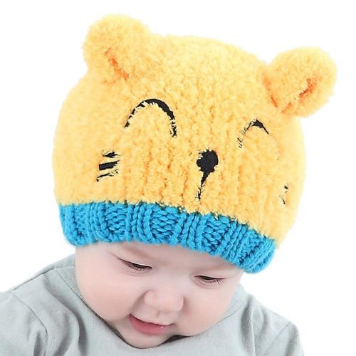 Baby Soft Warm Hat Crochet Elasticity Knitted Hats Children Casual Warm Cap