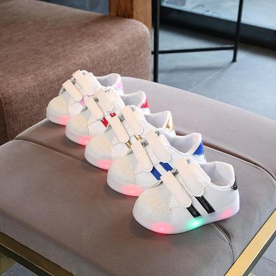 Baby Toddler Glowing Shoes Children Led Breathable Shoes Boys Glowing Sneakers