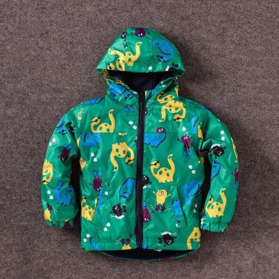 Children Outerwear Clothing Boys Dinosaur Hooded Rainsuit Rain Coat