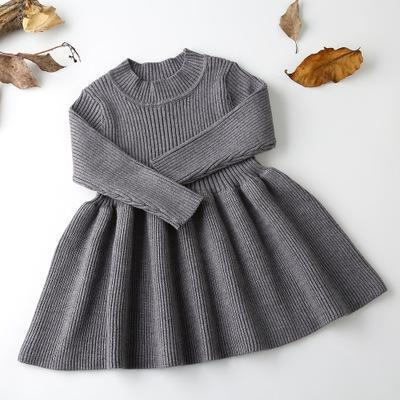 Girls Wool Knitted Sweater Girl dress For Party And Wedding