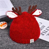 Winter Cute Cartoon Hat Deer Ears Baby Cap Knitted Baby Hat
