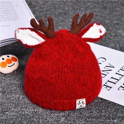 Winter Cute Cartoon Hat Deer Ears Baby Cap Knitted Baby Hat