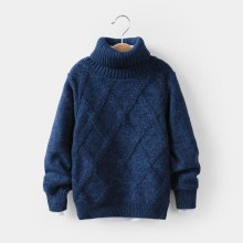 Toddler Kid Boy Sweater Warm Knitted Top Long Sleeve Knitwear Outfit
