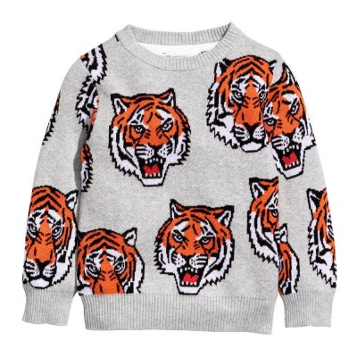 Tiger Warm Baby Girls Boys Sweater Kids Tops Winter Clothes Clothing