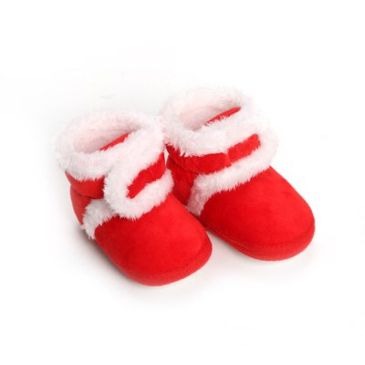 Baby Warm Newborn Boots Winter First Walkers Soft Sole Fur Snow Booties