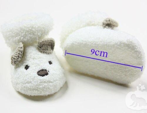 Warm Socks Unisex Baby Infant Cute Bear Animals Crib Warm Shoes For Newborn