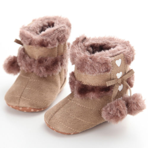 Hair Ball Infant Baby Girl Tassel Crib Toddler Winter Sandals Shoes
