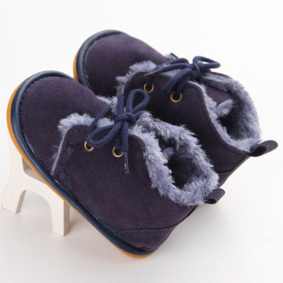 Winter Infant Baby Snow Booties Fur Boots Toddler Warm Strappy Shoes