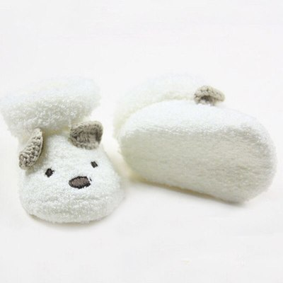Warm Socks Unisex Baby Infant Cute Bear Animals Crib Warm Shoes For Newborn