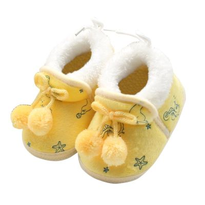 Winter Newborn Baby Girls Princess Boots First Walkers Soft Soled Footwear Shoes