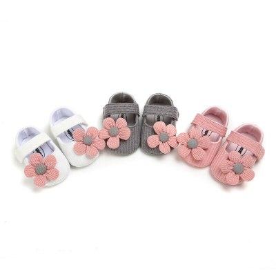 Baby First Walkers Newborn Baby Unisex Soft Sole Crib Shoes Flower Cotton Prewalker Shoes