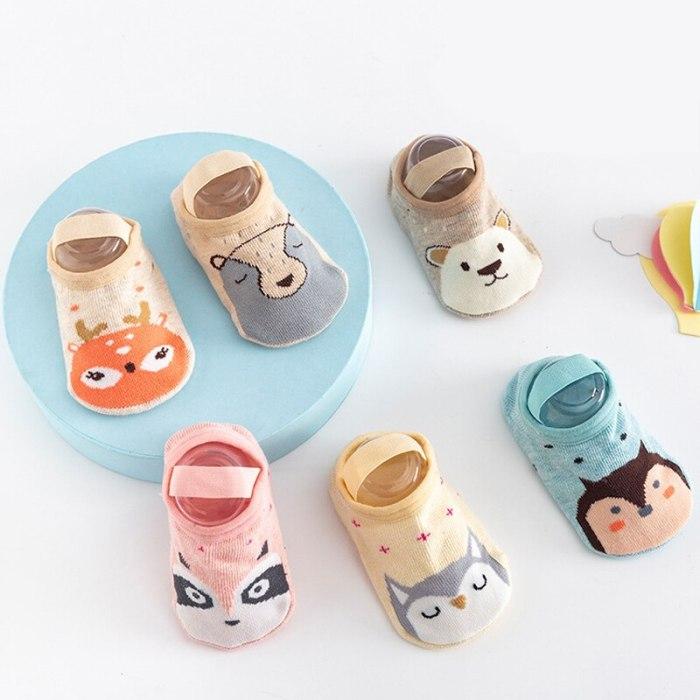 Animal Baby Socks Anti Slip Socks Shoes Cotton Newborns Infant Floor Socks
