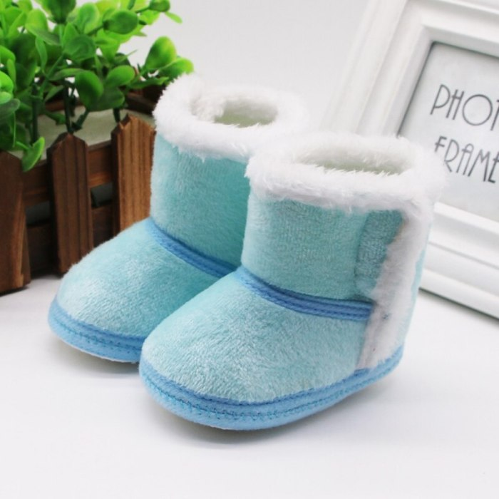 Baby Winter Warm Fur Snow Boots Baby Booties Anti-slip Infant Boys Shoes