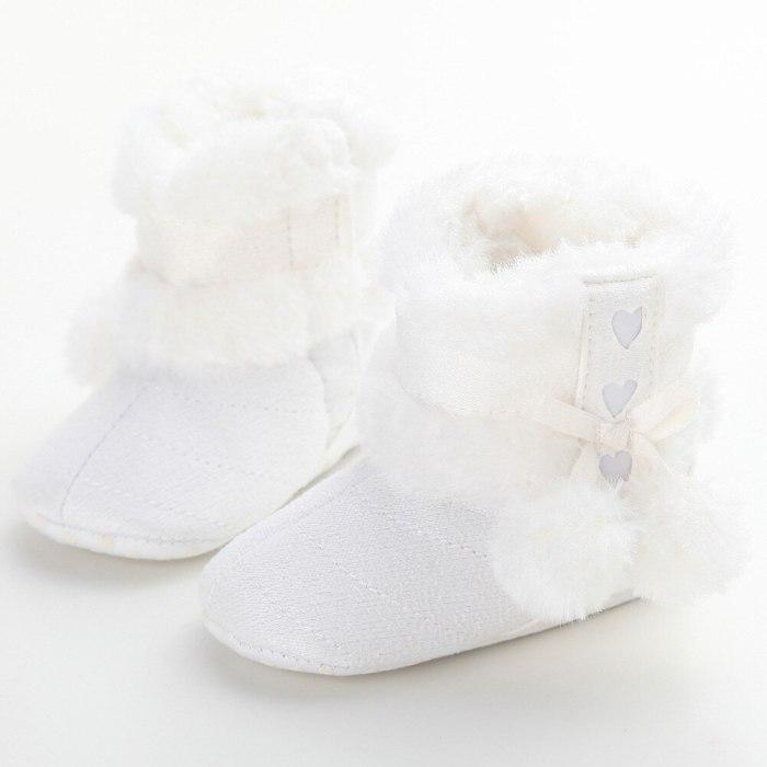 Hair Ball Infant Baby Girl Tassel Crib Toddler Winter Sandals Shoes