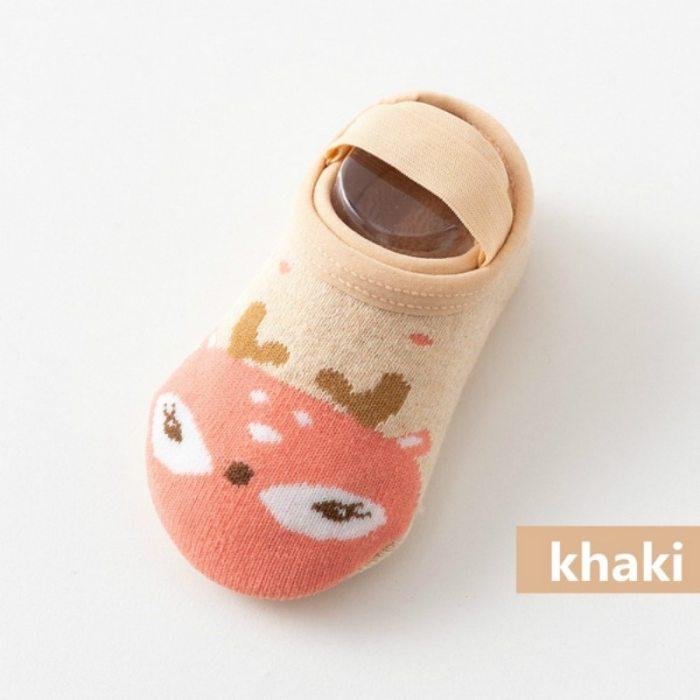 Fashion Baby Cute Cartoon Non-slip Cotton Toddler Floor Socks Newborns Animal pattern First Walker Shoes