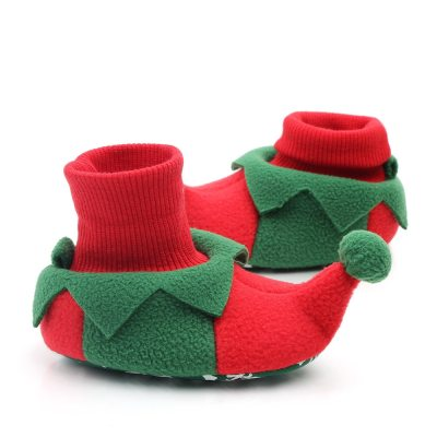Christmas Warm Shoes Toddler First Walkers Winter Baby Cute Cartoon Kids Animal Shoes