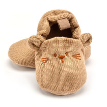Infant Toddler Baby Knit Crib Shoes Cute Cartoon Anti-slip Prewalker Baby Slippers