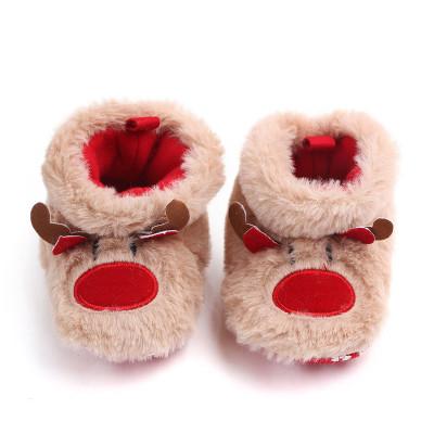 Winter Baby Girls Boys Christmas Elk First Walkers Anti-slip Newborn Shoes