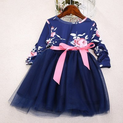 Family look floral print mother daughter matching dresses long sleeve dress outfits