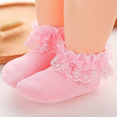Baby Infant Bowknot Socks Lace Princess Cotton Socks Baby Girl Ankle Socks