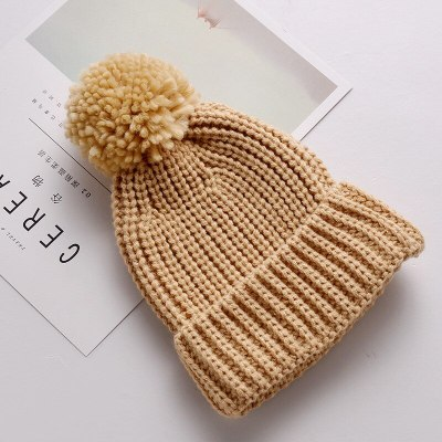 Baby Toddler Knitted Hat Winter Infant Pompom Cap Crochet Beanie Knit Cap