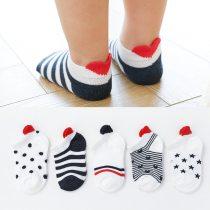 5 Pairs/lot Cute Lovely Short Baby Socks Cotton Mesh Cute Newborn Baby Toddler White Sock