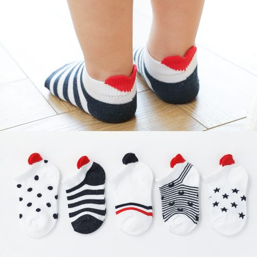 5 Pairs/lot Cute Lovely Short Baby Socks Cotton Mesh Cute Newborn Baby Toddler White Sock