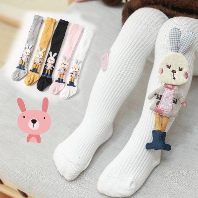 Baby Girls Stockings Cartoon Tights Cute 3D Rabbit Pantyhose Cotton Winter Tights