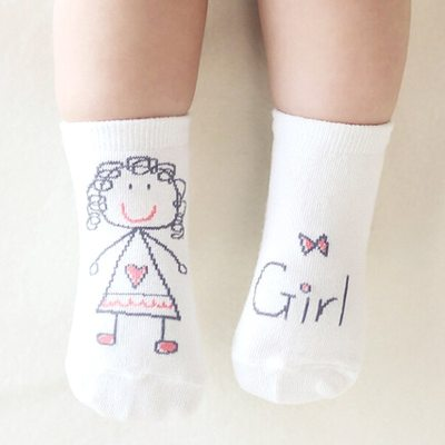 Cotton Baby Socks Newborn Infant Toddler Floor Socks For 0-12 Months Kids
