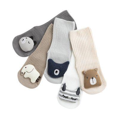 Soft Cotton Anti Slip Baby Socks Newborn Cartoon Animal Baby Floor Socks