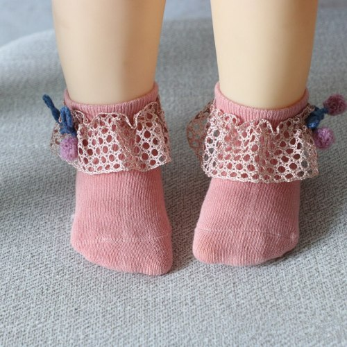 Baby Infant Bowknot Socks Lace Princess Cotton Socks Baby Girl Ankle Socks