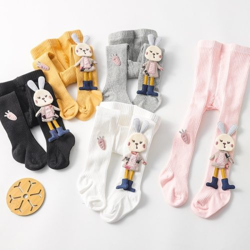 Baby Girls Stockings Cartoon Tights Cute 3D Rabbit Pantyhose Cotton Winter Tights
