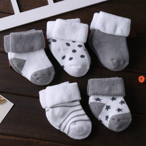 5Pairs/lot Infant Baby Socks Cotton Newborn baby Toddler Dot Socks
